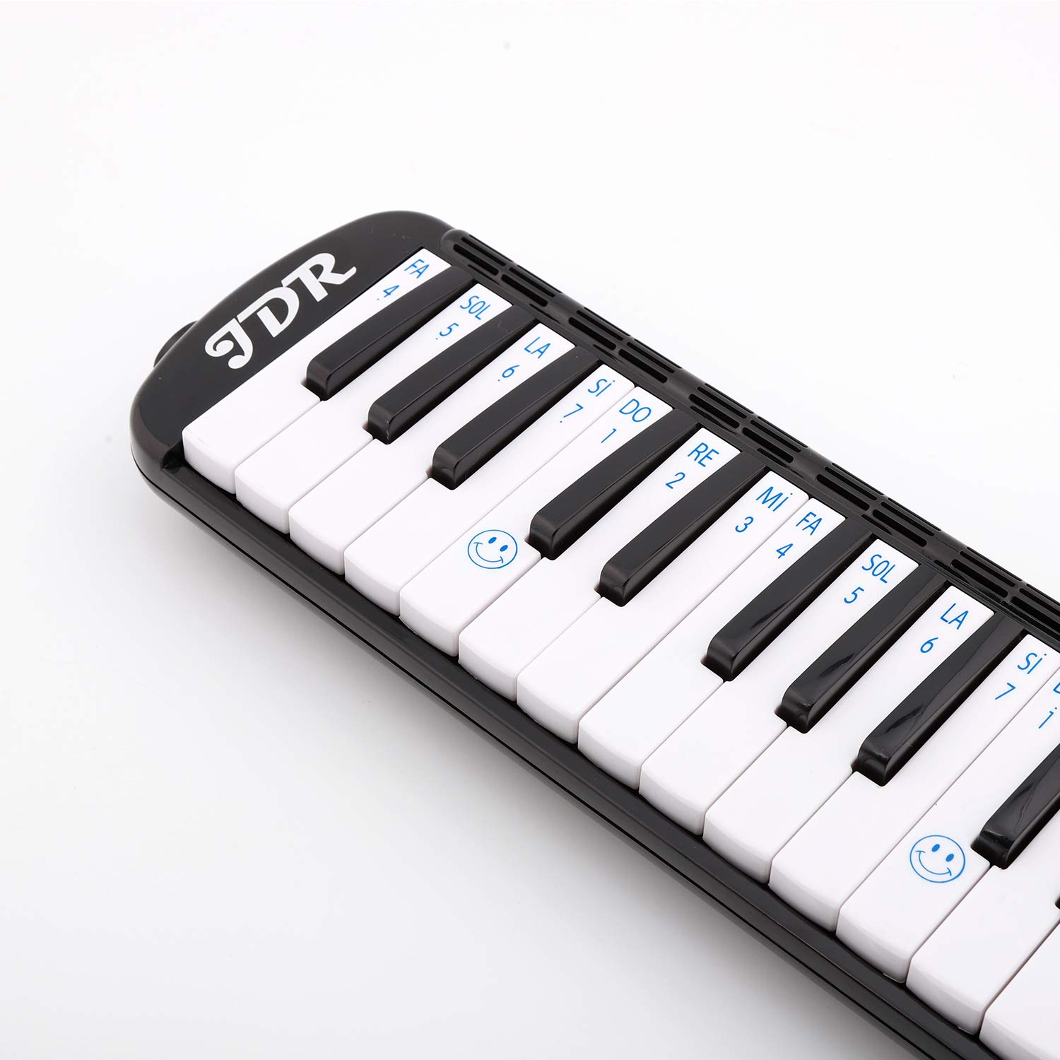 JDR Melodica instrument 37 Keys Piano Style Keyboard Standard Tone with 2×Mouthpiece 2×Tube Music Book Case for Kids Music Gift by JDR (Image #2)