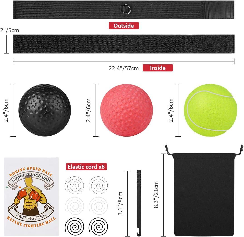 Abree Ballon de Boxe pour La Formation de Vitesse R/éflexe Punch Exercice Entra/înement.