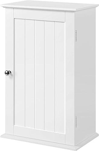 YAHEETECH Bathroom Kitchen Wall Mounted Single Door 3 Tier Adjustable Storage Shelf Medicine Cabinet Cupboard