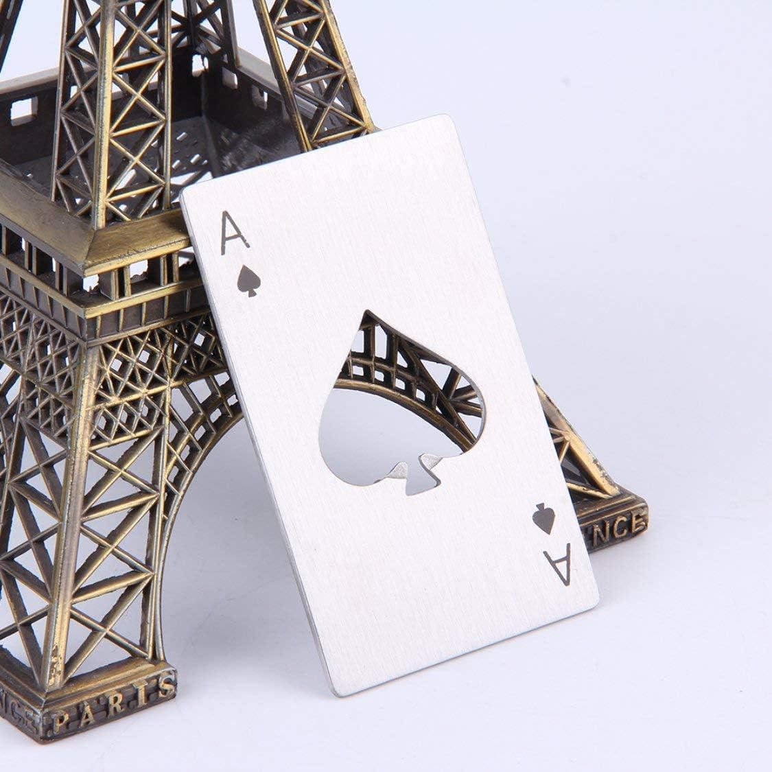 Vige Elegante Poker Carte da Gioco Ace of Spades Bar Strumento Soda Beer Bottle cap Opener Regalo per la Cucina Campeggio allaperto