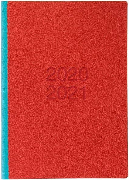 Letts 20//21 colore: rosa con visualizzazione settimanale Agenda scolastica formato A5
