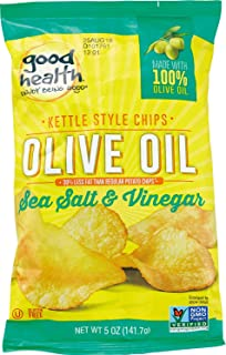 product image for Good Health Olive Oil Potato Chips, Sea Salt and Vinegar, 5 Ounce (Pack of 12)