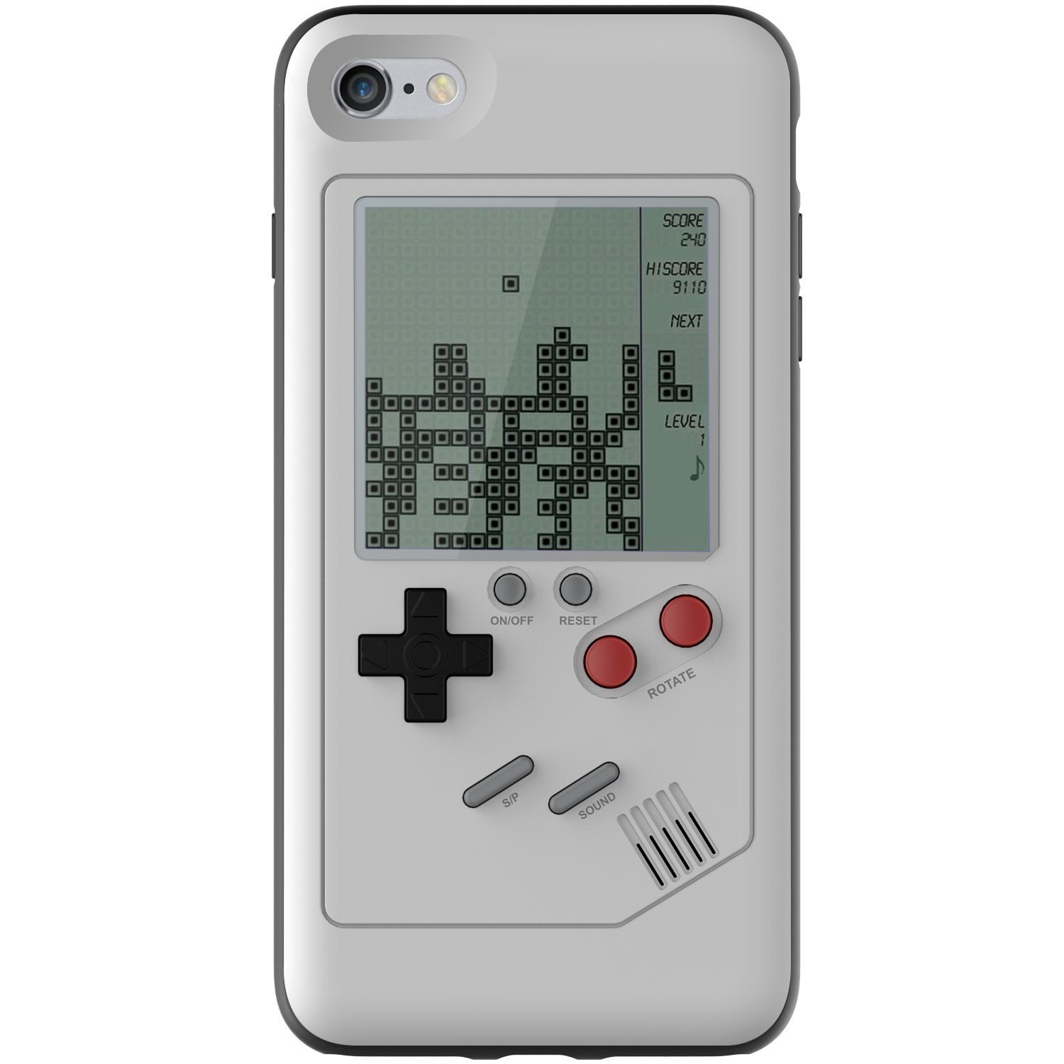 new product d9146 4be67 SN-RIGGOR Gameboy iPhone Case Game boy Console for iPhone 8 Plus Case Ultra  Slim Protective iPhone Game Cover Tetris Games Retro Gameboy TPU Shell for  ...