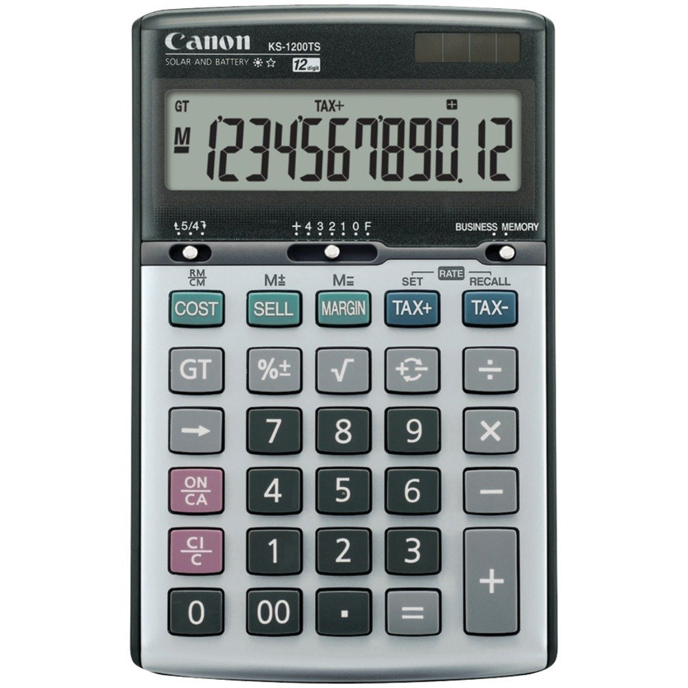 CANON 8508A013 KS1200TS Solar & Battery-Powered 12-Digit Calculator by Canon