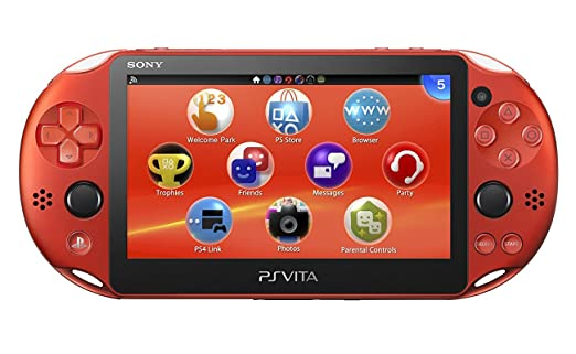 Amazon com: PlayStation Vita Wi-Fi Metallic Red PCH-2000ZA26
