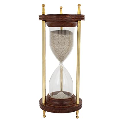 buy artshai 10 minute wooden sand timer hourglass made from quality