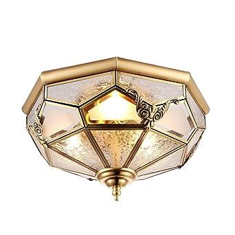 Messingleuchte Deckenleuchte Kupfer Rund Bronze Goldene Fr Schlafzimmer Deckenlampe Leuchten Led Messing Retro Nostalgie DeckenLampe Vintage