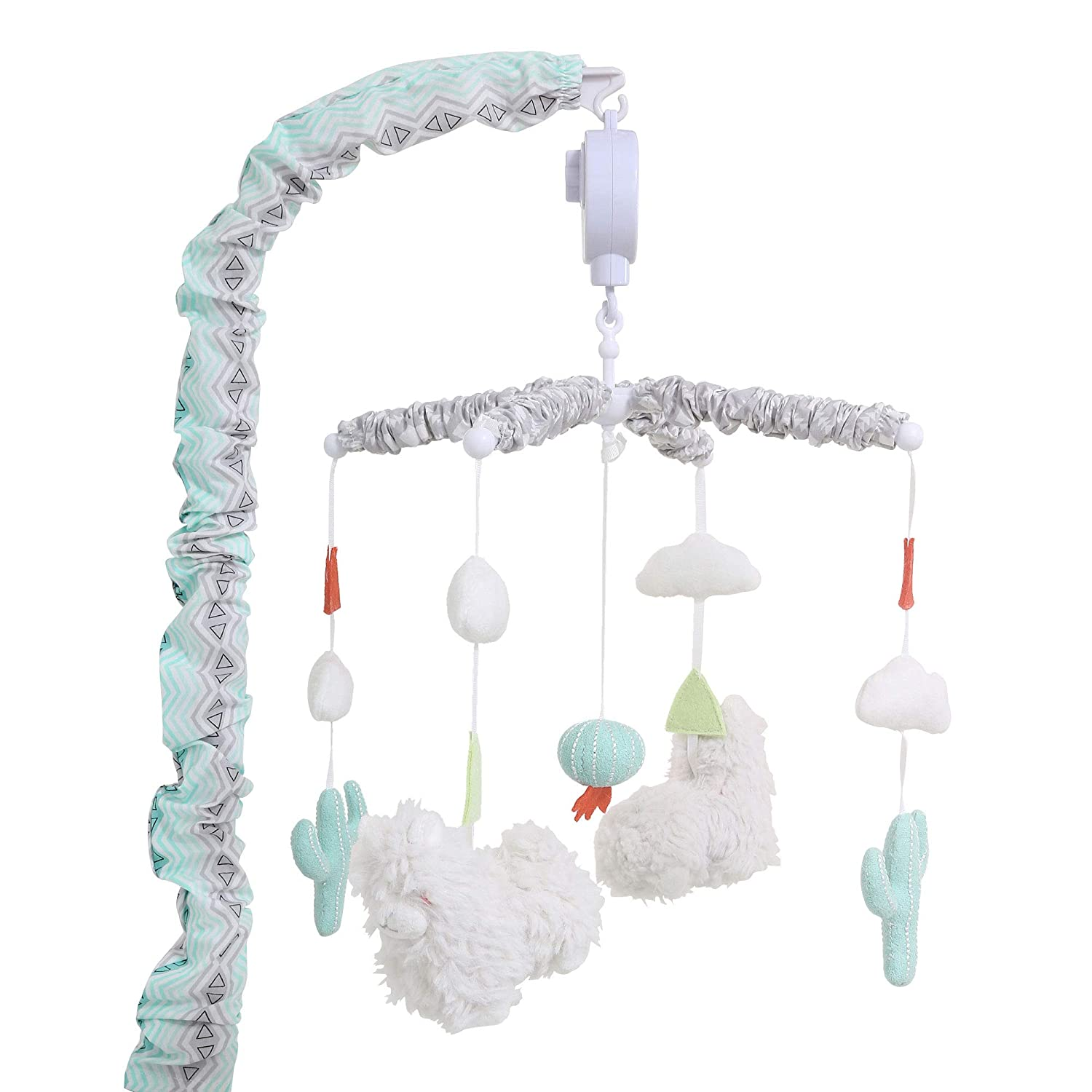 Little Llama Mint Green and Grey Digital Musical Crib Mobile Farallon Brands DMLLA