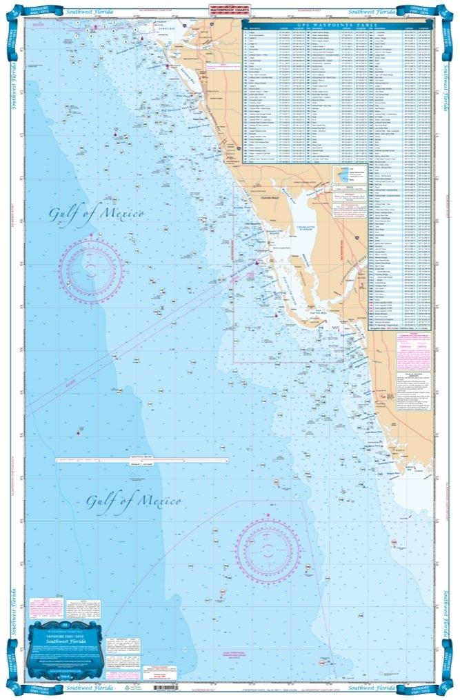 Southwest Florida Map.Amazon Com Waterproof Charts 15f Southwest Fishing Charts And