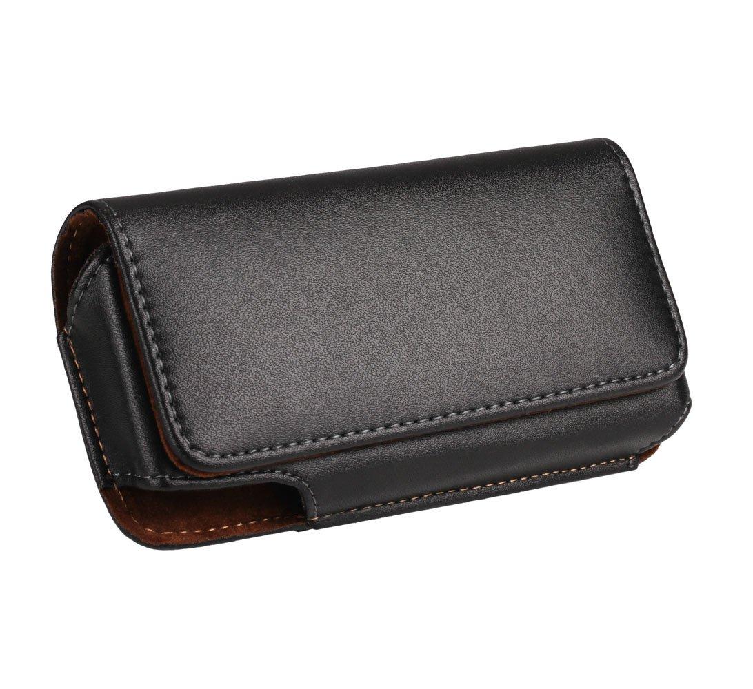 Yuzihan iPhone SE 5 5S 5C Belt Pouch Holster Premium Leather Belt Holster With Belt Clip Belt Loop Fit With Slim Case / Otterbox Commuter Case / Spigen Case On