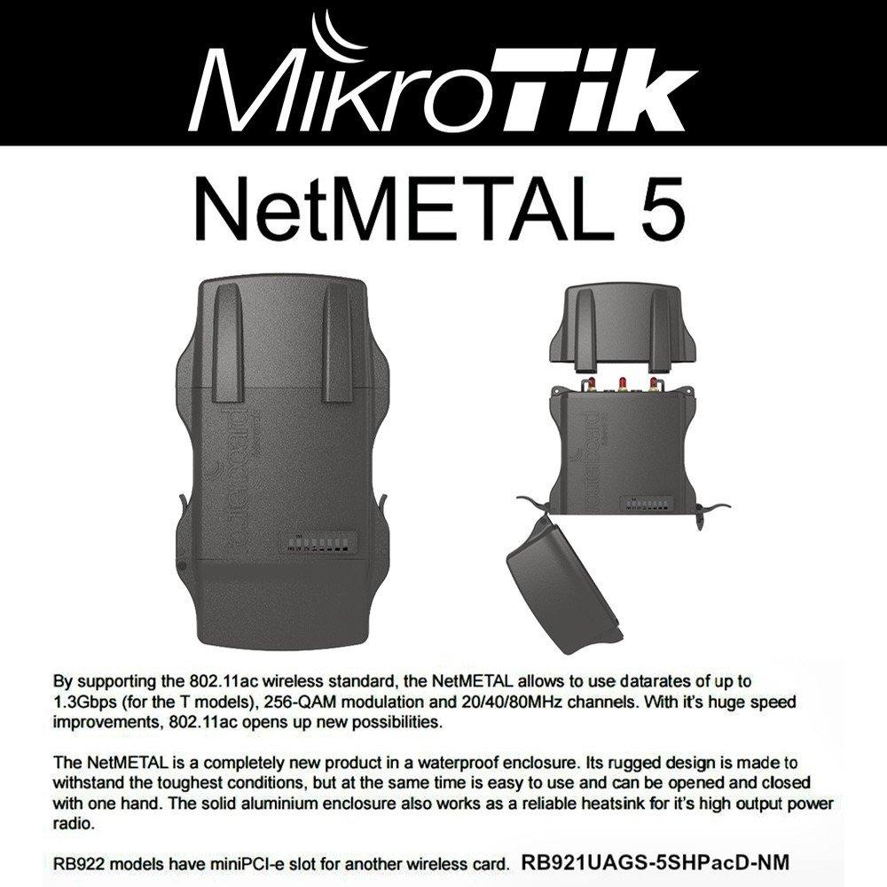 Mikrotik NetMETAL 5 RB921UAGS-5SHPacD-NM 2000mW 11ac OSL4 PoE AP/Backbone/CPE by Mikrotik (Image #1)