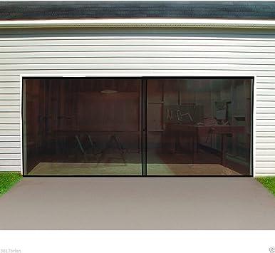 Puerta de garaje pantalla doble coche, puerta de garaje pantalla 16 ft. W x 7 ft.