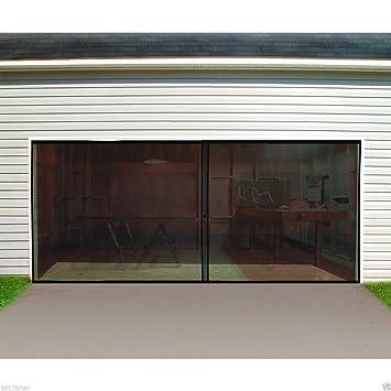 two car garage doorGarage Door Screen Double Car Double Garage Door Screen 16 Ft W X
