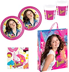 Soy Luna Party Supplies Pack for 16 Guests Disney Plates Cups Napkins Gift Bag