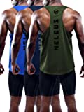 Neleus Men's 3 Pack Dry Fit Workout Gym Muscle Tank