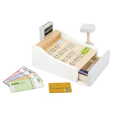 Small Foot Wooden Toys Play Cash Register Designed for Children Ages 3+ Years: Toys & Games