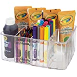 Premium Quality Clear Plastic Craft and Art Supply Organizer | 5 Compartments