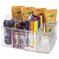 Clear Plastic Craft and Art Supply Organizer   5 Compartments