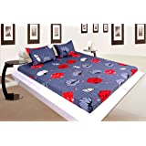 Reliable Trends Elastic Fitted Bedsheets (Grey Floral )