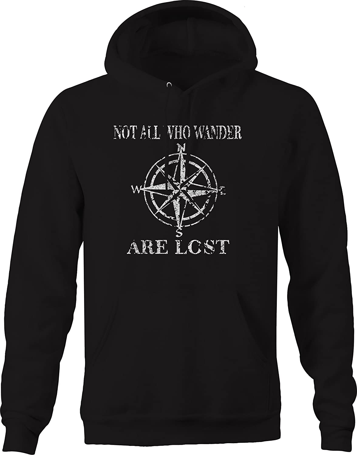 Not All Who Wander are Lost Compass Star Sweatshirt Distressed