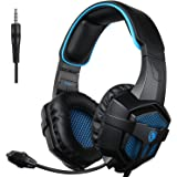 SADES SA807Gaming Headset for Xbox one PS4 Pro Stereo Headset Over-Ear Gaming Headphones with Microphone for Xbox one PC…