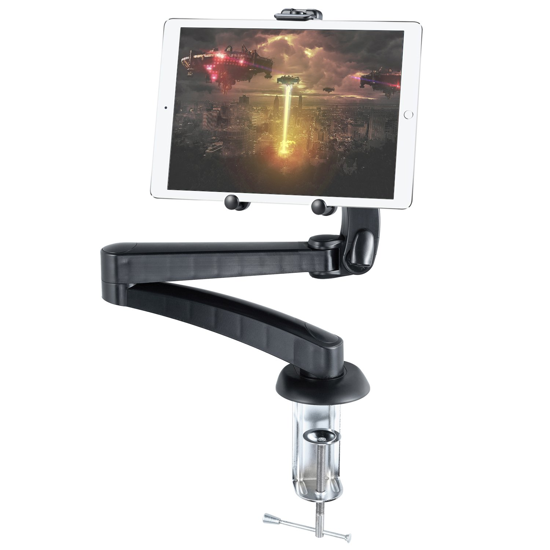 Cellet Tabletop Tablet Holder Mount for All Tablets, Apple iPad/iPad Air/iPad 9.7/iPad Pro 10.5, 12.9/Pad Mini 4, Samsung Tab S4 S3 S2, LG G Pad 8.0 Alcatel A30, Leonovo Moto Tab, Asus ZenPad