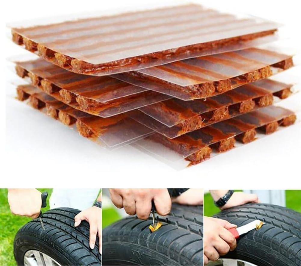 100 Meipro Tire Repair Strings Rubber Strips,Tire Repair Plugs Self Vulcanizing Tire Repair Tool Kit for Cars