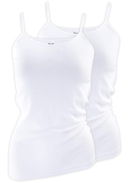 a3fb33fd86c8c Yenita Basic Cami Tank-Top Shirt with Spaghetti Strap (Pack of 4) at Amazon  Women's Clothing store: