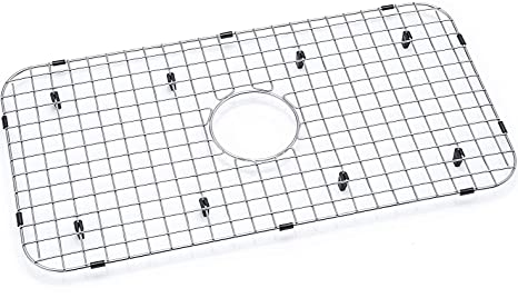 "Kitchen Sink Grid - Premium Sink Bottom Grid - Stainless Steel - Sink Size  Minimum 27 1/4"" x 14 1/4"" - Protect Your Sink from Scratches - ..."