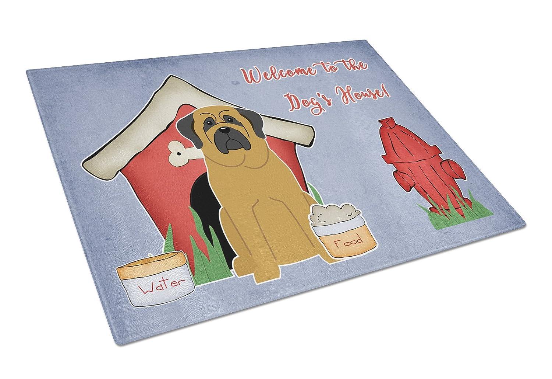 Large Carolines Treasures BB2772LCB Dog House Collection Mastiff Glass Cutting Board Multicolor