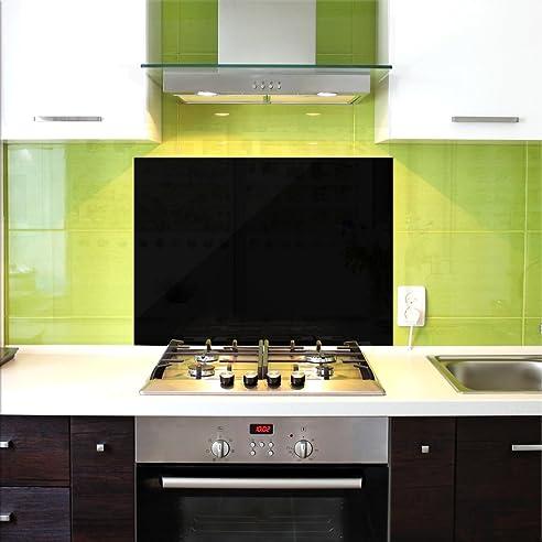 Küchenrückwand, Glas Spritzschutz, 100 X 60 Cm, Schwarz: Amazon.De