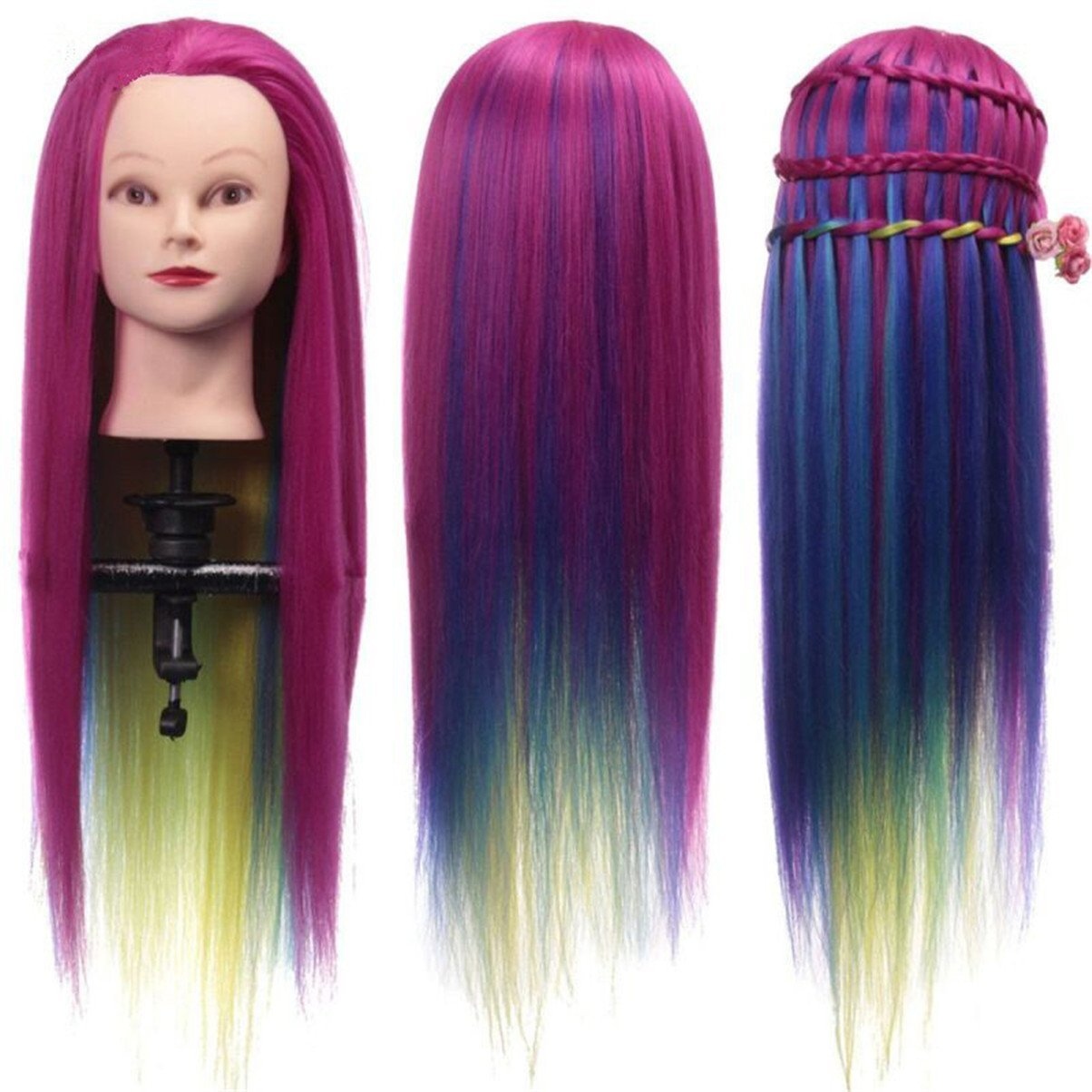 Amazon.com : Cool2day Colorful Mannequin Head Hairstyles ...