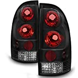 ACANII - For 2005-2015 Toyota Tacoma Pickup Pick up Black Tail Lights Brake Lamps Taillights Taillamps Left+Right 05-15