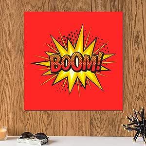 لوحة BOOM خشب ام دي اف مقاس 30x30 سنتيمتر