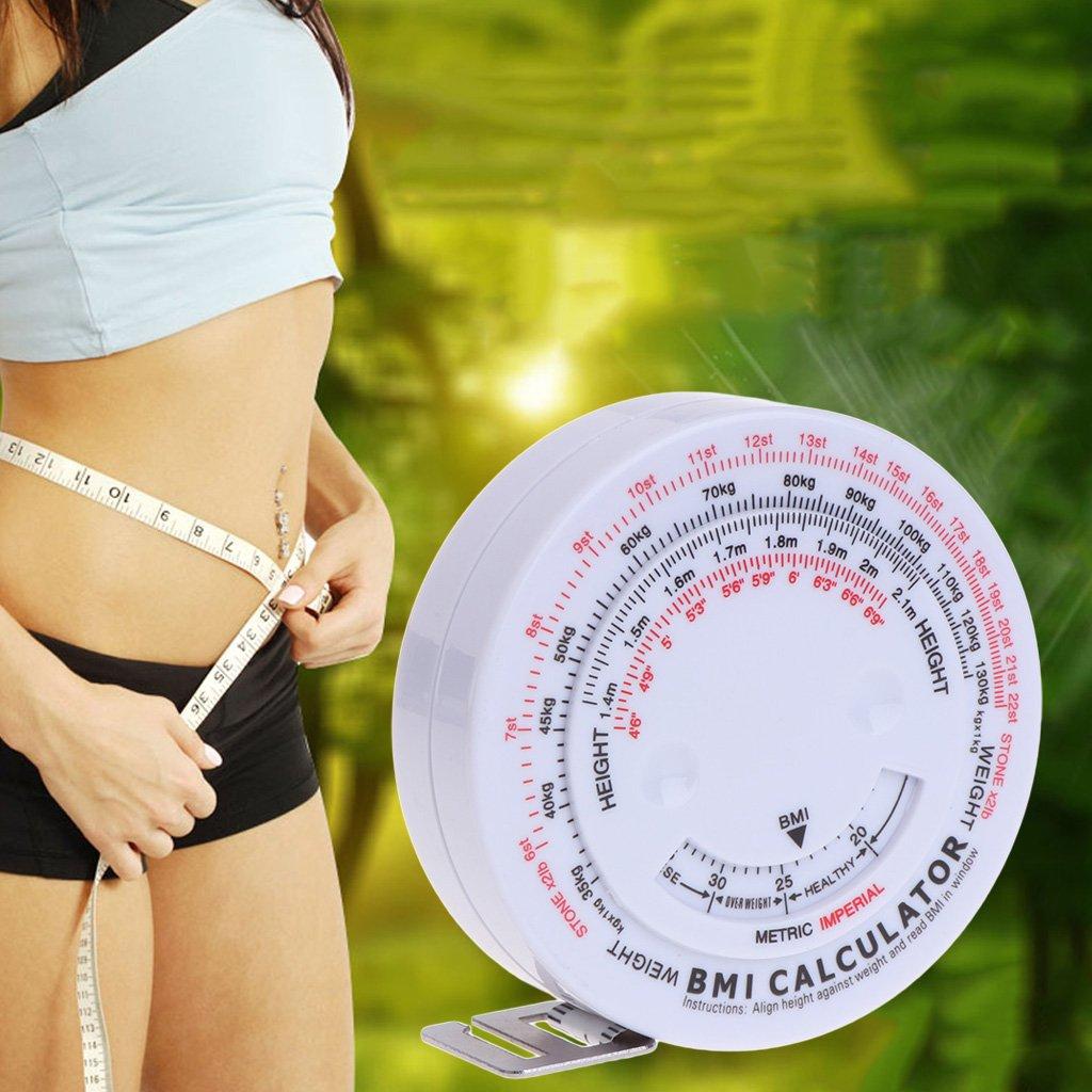 Cinta m/étrica retr/áctil BMI Body Mass de 150 cm