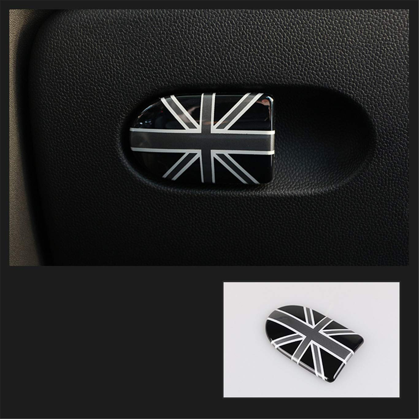 F55 F56 F57, Union Jack Gray Storage Box Handle Door Cover Trim Cap ABS for Mini Cooper F54 Clubman F55 Hardtop F56 Hatchback F57 Covertible F60 Countryman