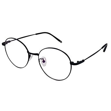 fc6a5ad447 XYAS women glasses clear lens round front retro design classic glasses high  quality (Black)  Amazon.co.uk  Clothing