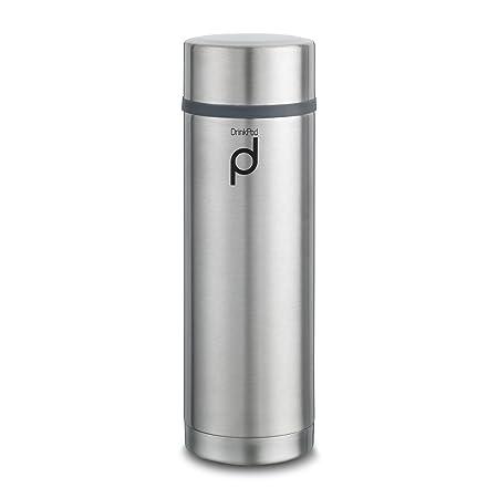 Stainless Steel... Grunwerg Vacuum Insulated Leak Proof Drinkpod Capsule Flask