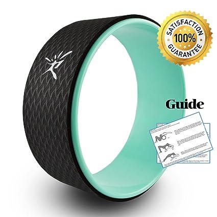 Yoga Wheel Yoga rueda con guía para mejorar la flexibilidad en Yogaübungen belastbar hasta 474 kg