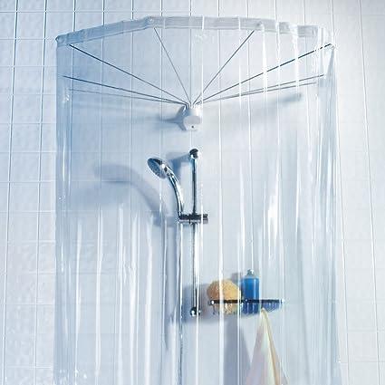 Spirella Ombrella Clear 1004436 Telaio A Ombrello Per Doccia Con