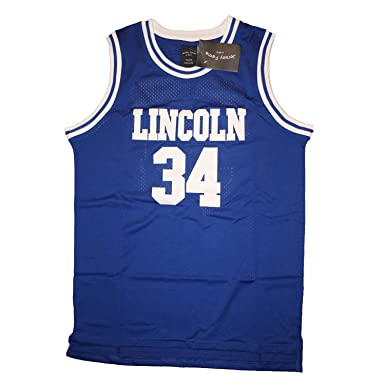 JerseyFame Men s Basketball Jersey  34 LINCOLN basketball Jersey Blue S-3XL  ALL SIZE ( e718dd5fd