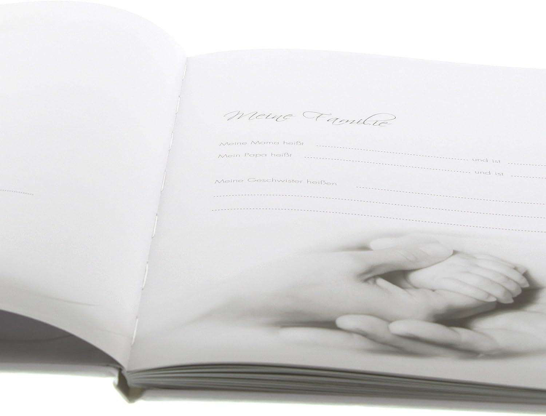 Lovely 44 illustrierte Seiten 21 x 28 cm Goldbuch Babytagebuch Blau Leinen bedruckt 11086