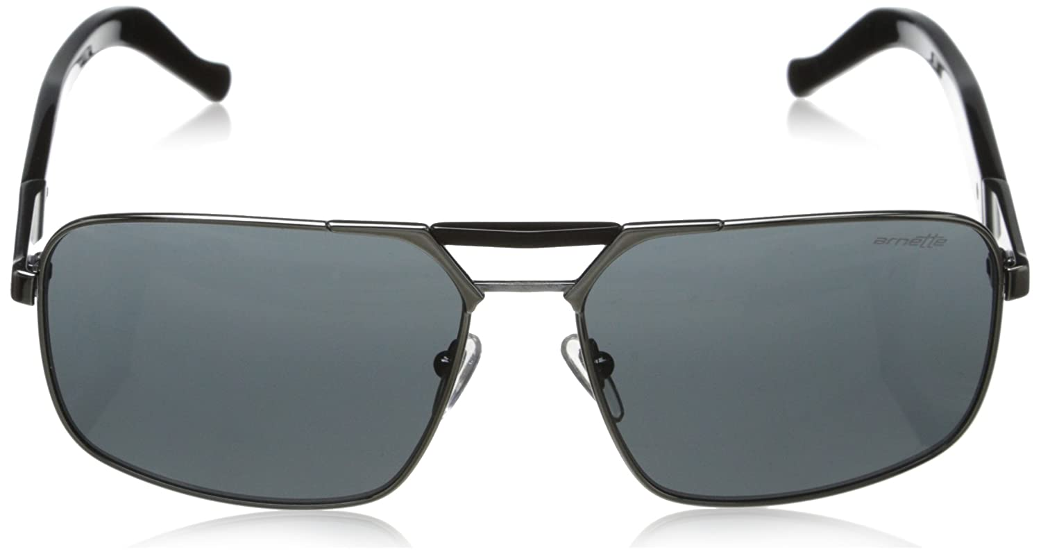 Arnette Smokey Rectangular Sunglasses Gunmetal//Black//Grey 60 mm