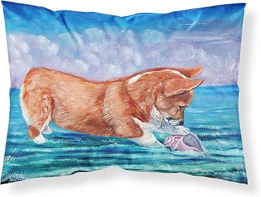 Amazon Com Caroline S Treasures 7407pillowcase Corgi Sea Shell Find Fabric Standard Pillowcase Standard Multicolor Caroline S Treasures Home Kitchen