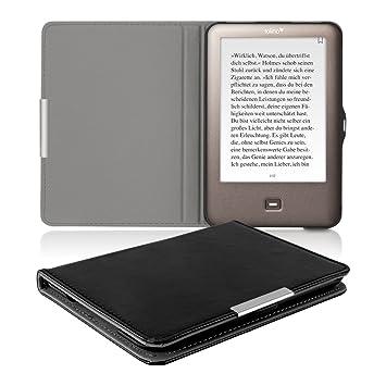 kwmobile 18268.01 Funda para Libro electrónico Negro - Fundas para Libros electrónicos (Libro, Negro, Tolino, Imitación Piel, Shine, Bump Resistant, ...