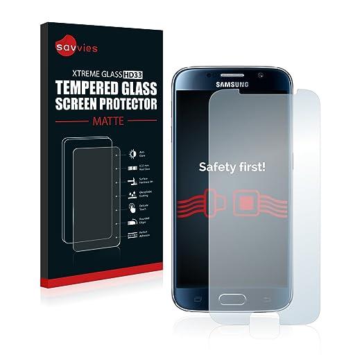 2 opinioni per Savvies Pellicola Protettiva Vetro Temperato Opaca per Samsung Galaxy S6 Vetro