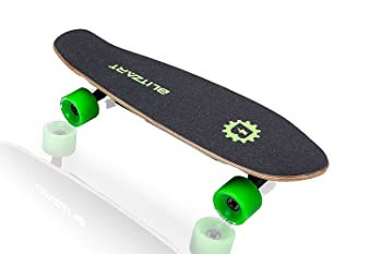 "BLITZART Mini Flash 28"" Electric Skateboard Motorized 2.8"" Wheels Hub Motor Remote Controlled E-Skateboard"