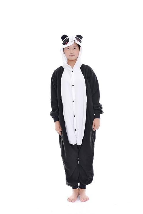 DAYAN Panda Unisex Pijamas Adulto Anime Cosplay Ropa Pijamas Franela Hombre Mujer Dormir Animal Pyjama Caliente