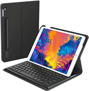 Apple MFi - Funda para iPad Pro 10,5 (Teclado con Conector Inteligente retroiluminado y Soporte para lápices)
