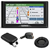 Garmin Drive 50LM GPS Navigator Lifetime Maps (US) 010-01532-0C Case + Mount + Charger Bundle includes GPS, 5-inch Soft Case, Universal GPS Navigation Dash-Mount and Dual 12V Car Charger